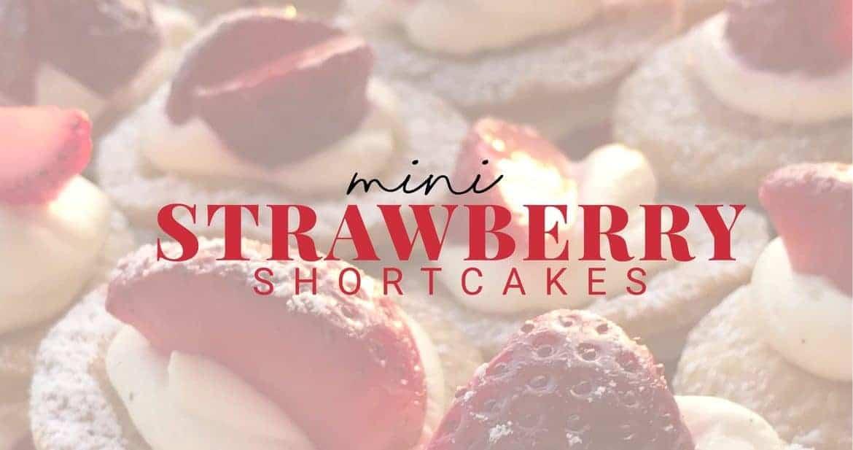 mini strawberry shortcake recipe